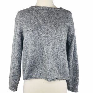 Slightly Cropped Thick Warm Grey Sweater